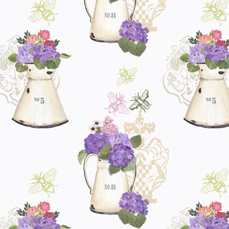 Hydrangea fabric by lana_gordon_rast_ on Spoonflower - custom fabric