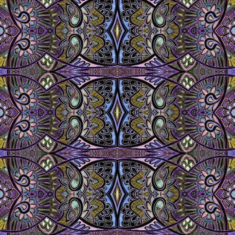 The Peacock Strut fabric by edsel2084 on Spoonflower - custom fabric