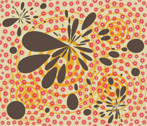 retro kitchen splotches fabric by larksfeatherstudio on Spoonflower - custom fabric