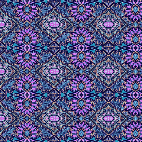 The Electric Flower Experience fabric by edsel2084 on Spoonflower - custom fabric