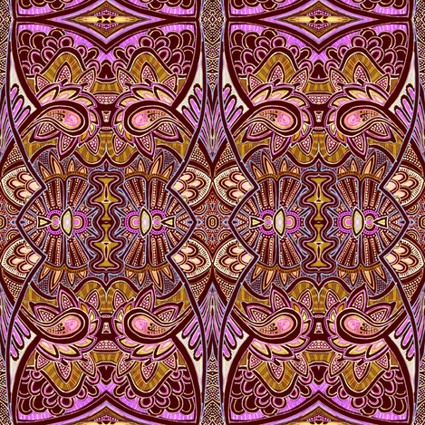Chocolate Caramel with Raspberry Filling fabric by edsel2084 on Spoonflower - custom fabric