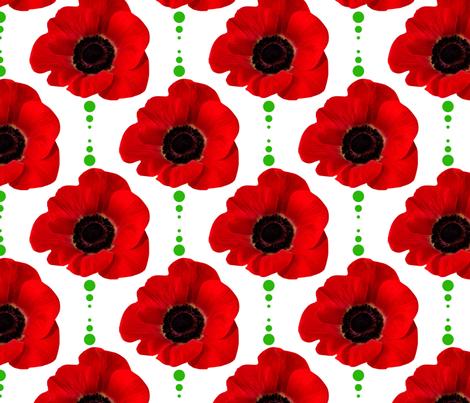 Red_Poppies fabric by suziwollman on Spoonflower - custom fabric