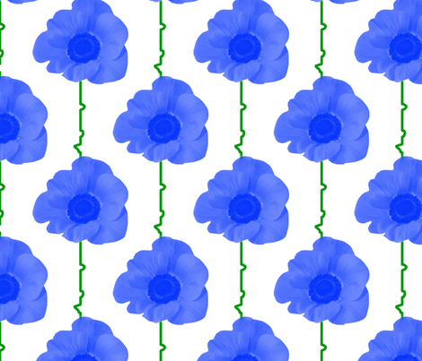blue_poppies fabric by suziwollman on Spoonflower - custom fabric