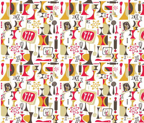 Atomic Kitchen fabric by khulani on Spoonflower - custom fabric