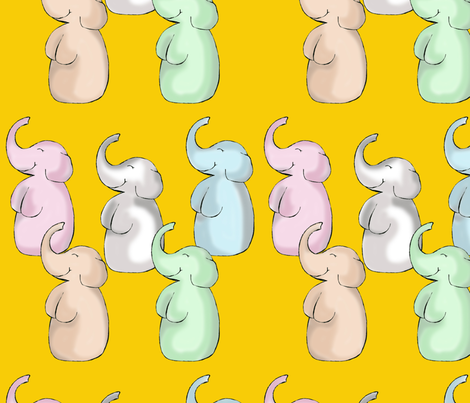 baby_elephant_walk fabric by suziwollman on Spoonflower - custom fabric