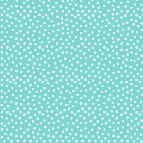 Milly Mouse Aqua Dots fabric by bzbdesigner on Spoonflower - custom fabric