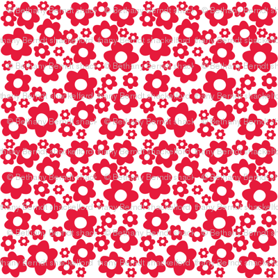 Milly Mouse red flowers