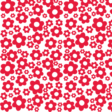 Milly Mouse red flowers fabric by bzbdesigner on Spoonflower - custom fabric