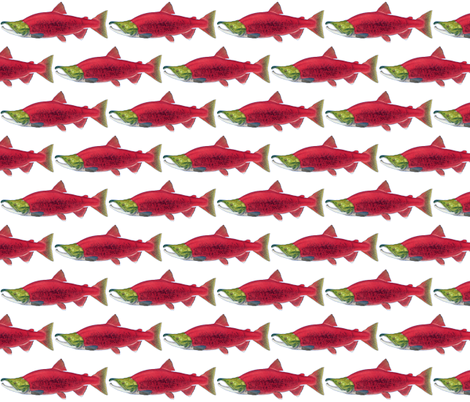 SockeyeSalmon small fabric by mysticalarts on Spoonflower - custom fabric