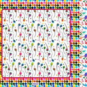 foulard plume de paon