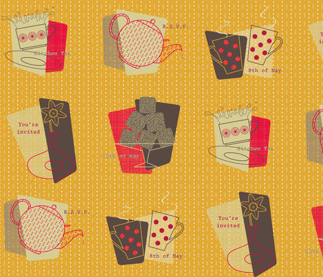 Kitchen Tea fabric by nekineko on Spoonflower - custom fabric