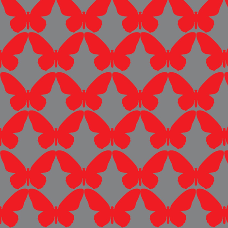 butterfly_red-01 fabric by lazydee on Spoonflower - custom fabric