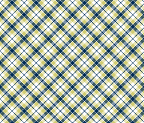 KC plaid navy/apple fabric by minimiel on Spoonflower - custom fabric