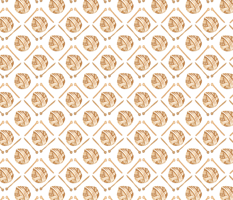 the love of knitting fabric by mummysam on Spoonflower - custom fabric
