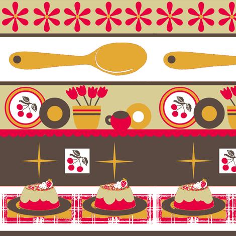 Cherry Kitschy stripe fabric by paragonstudios on Spoonflower - custom fabric
