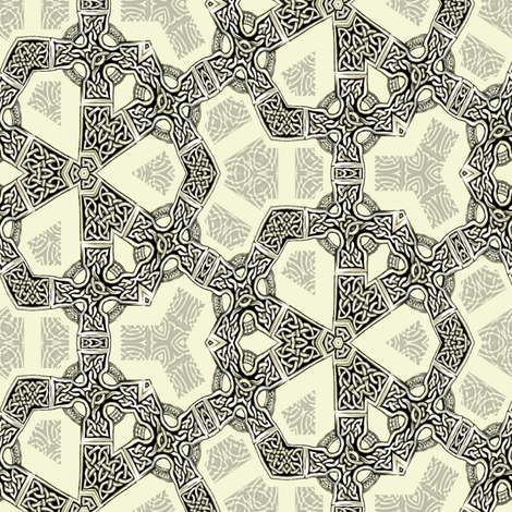 Lindisfarne Chain-Mail fabric by wren_leyland on Spoonflower - custom fabric