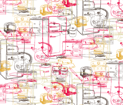 failed_retro_kitchen fabric by lusyspoon on Spoonflower - custom fabric
