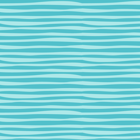 Rainforest_Babies_Aqua_Stripe fabric by bzbdesigner on Spoonflower - custom fabric