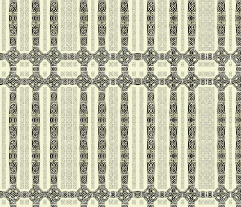 Lindisfarne Dining Room Crosses fabric by wren_leyland on Spoonflower - custom fabric