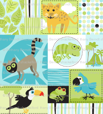 Rainforest Babies Patchwork