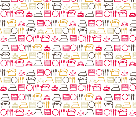 32 bit Kitchen fabric by lusyspoon on Spoonflower - custom fabric