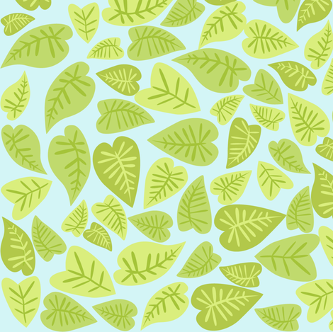 Rainforest Babies Leaves fabric by bzbdesigner on Spoonflower - custom fabric