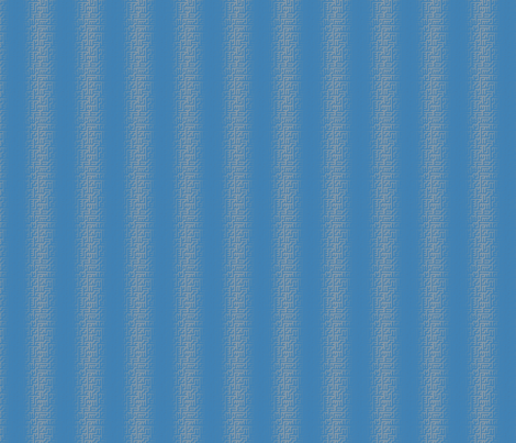 Blue Maze Stripe © Gingezel™ 2012 fabric by gingezel on Spoonflower - custom fabric