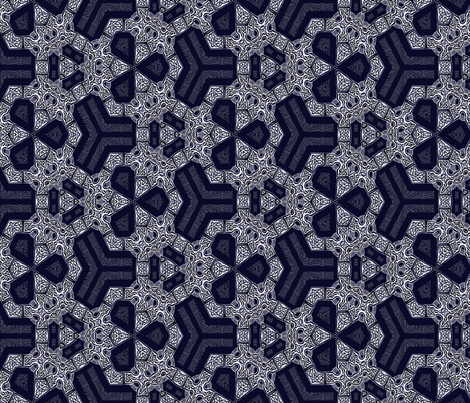 Lindisfarne Navy Blue Hex fabric by wren_leyland on Spoonflower - custom fabric