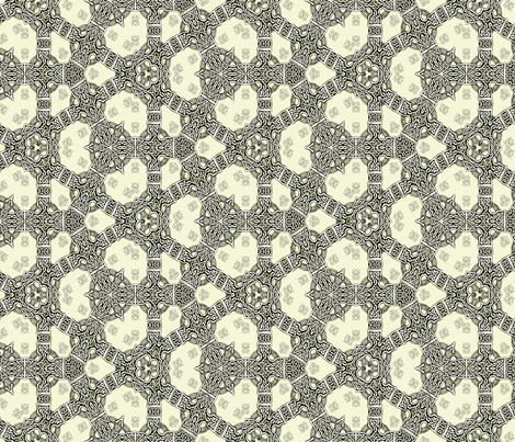 Lindisfarne Linked Arms fabric by wren_leyland on Spoonflower - custom fabric