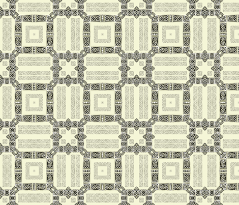 Lindisfarne Square Continuum fabric by wren_leyland on Spoonflower - custom fabric
