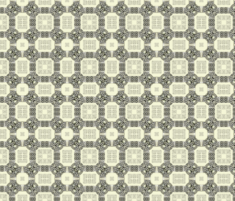 Lindisfarne Chain Mail In Grey fabric by wren_leyland on Spoonflower - custom fabric