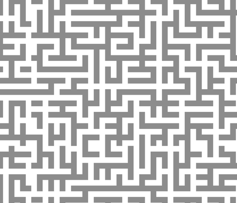 L Chain Maze In Grey fabric by wren_leyland on Spoonflower - custom fabric