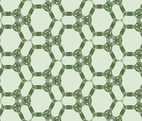 Lindisfarne Emerald Isle fabric by wren_leyland on Spoonflower - custom fabric