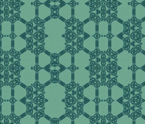 Lindisfarne Emerald Isle fabric by wren_leyland on Spoonflower - custom fabric