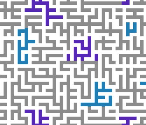 Lindisfarne Maze fabric by wren_leyland on Spoonflower - custom fabric