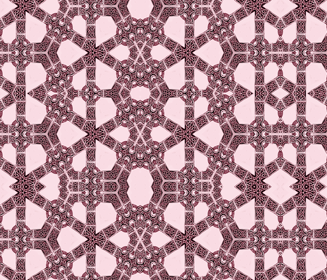 Lindisfarne Lassie in Raspberry fabric by wren_leyland on Spoonflower - custom fabric