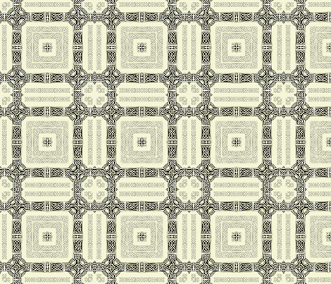 Lindisfarne- Clue Hallways fabric by wren_leyland on Spoonflower - custom fabric