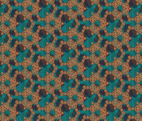 Lindisfarne Copper fabric by wren_leyland on Spoonflower - custom fabric