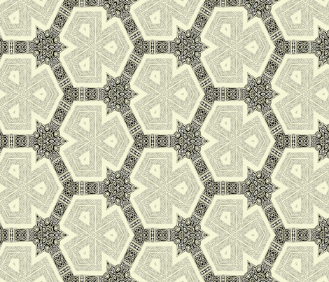 Lindisfarne gray tri-pies fabric by wren_leyland on Spoonflower - custom fabric
