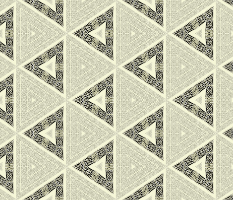 Lindisfarne Gray Triangles fabric by wren_leyland on Spoonflower - custom fabric