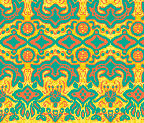 african intention © 2012 Jill Bull fabric by palmrowprints on Spoonflower - custom fabric