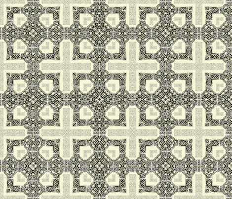 Lindisfarne Cross - Orthodox fabric by wren_leyland on Spoonflower - custom fabric