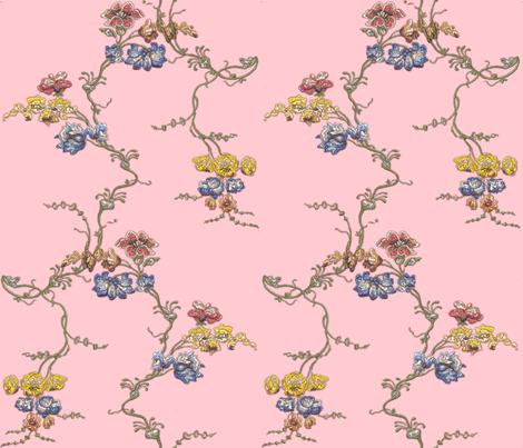 Embroidered Rococo Vines, c. 1742 fabric by bonnie_phantasm on Spoonflower - custom fabric