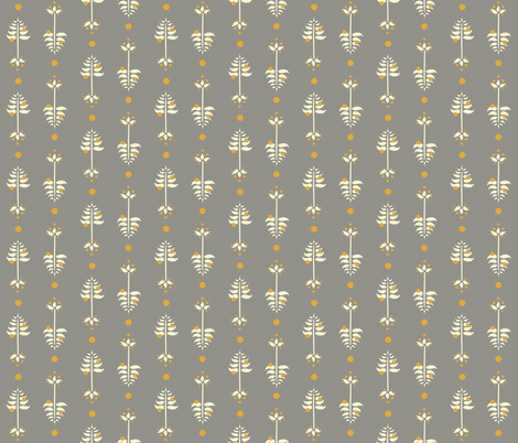 Golden Berry Tree fabric by leahvanlutz on Spoonflower - custom fabric