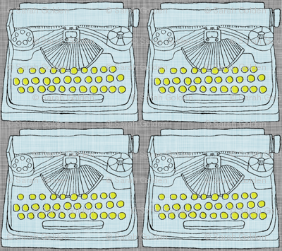 Light Blue Typewriter