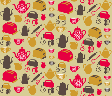 AtomicKitchen fabric by catail_designs on Spoonflower - custom fabric