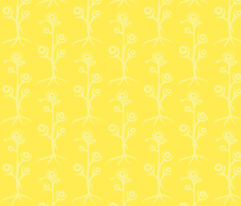 alien_flower- yellow fabric by kcs on Spoonflower - custom fabric