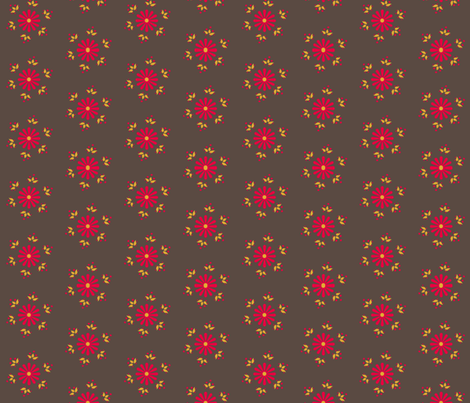 BerryFlower - Retro fabric by leahvanlutz on Spoonflower - custom fabric