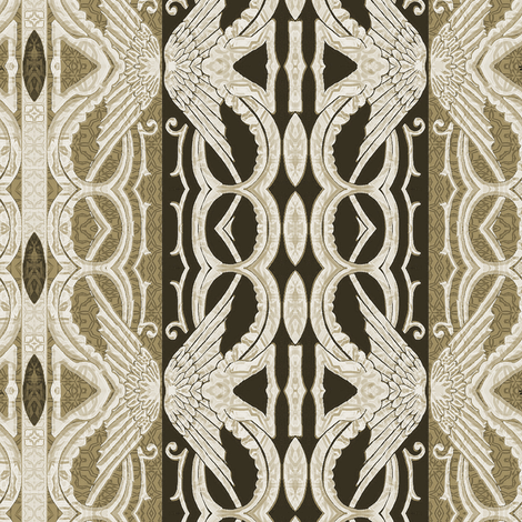 Brown Angelic Wings fabric by wren_leyland on Spoonflower - custom fabric