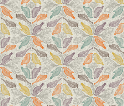 birds fabric by ariari on Spoonflower - custom fabric
